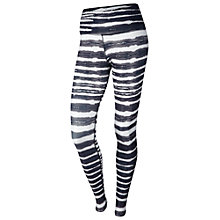 Buy Nike Legend 2.0 Tiger Print Running Tights, Dark Ash/Ivory Online at johnlewis.com
