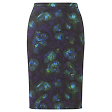 Buy Jigsaw Depths Print Skirt, Blue Online at johnlewis.com
