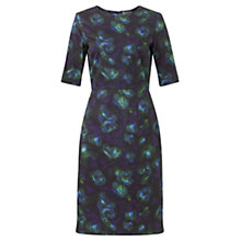 Buy Jigsaw Blue Depths Print Dress, Blue Online at johnlewis.com