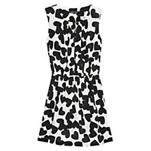 Buy Mango Heart Print Dress, Black/White Online at johnlewis.com