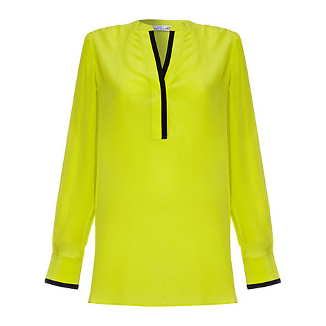Buy Damsel in a dress Signature Blouse, Chartreuse Online at johnlewis.com