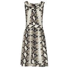 Buy Reiss Daria Snake Print Dress, Black/White Online at johnlewis.com