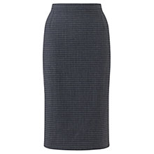 Buy Jigsaw Winter Gingham Pencil Skirt, Navy Online at johnlewis.com
