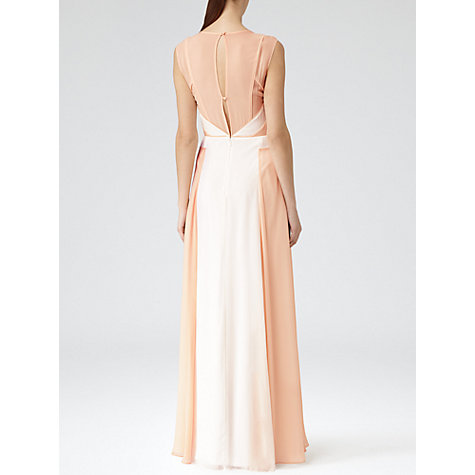 Buy Reiss Alexa Block Colour Maxi Dress, Pumpkin Online at johnlewis.com
