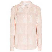 Buy Reiss Jilly Print Shirt, Apricot Online at johnlewis.com
