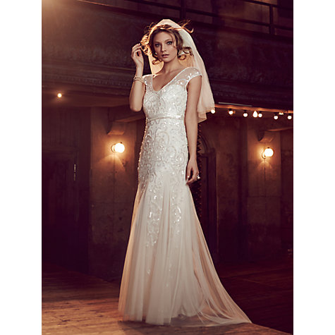 Buy Phase Eight Bridal Elbertine Wedding Dress, Ivory Online at johnlewis.com