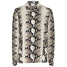 Buy Reiss Rafi Print Shirt, Black/White Online at johnlewis.com