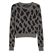 Buy Mango Heart Jacquard Jumper, Medium Grey Online at johnlewis.com