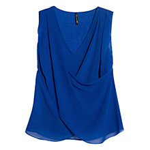 Buy Mango Wrap Top, Medium Blue Online at johnlewis.com