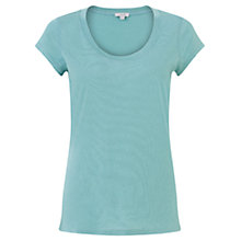 Buy Jigsaw Pima Cotton Short Sleeve Tee Online at johnlewis.com
