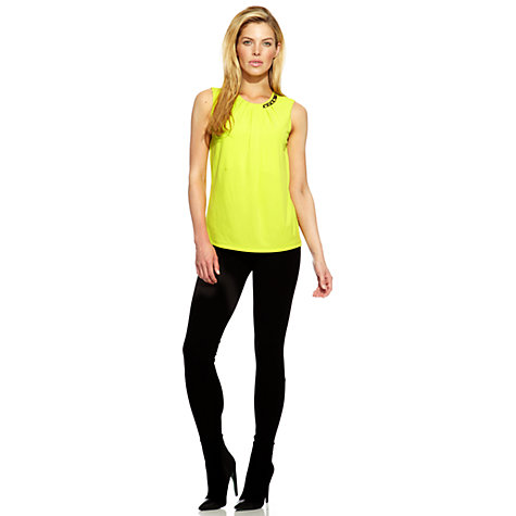 Buy Damsel in a dress Ashton Top, Chartreuse Online at johnlewis.com