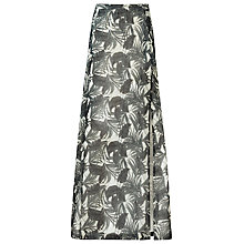 Buy Reiss Samba Pleat Maxi Skirt, Black/White Online at johnlewis.com