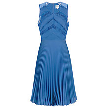Buy Reiss Tillie Pleated Dress, Blue Online at johnlewis.com