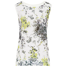 Buy Reiss Kali Print Sleeveless Top, Green Online at johnlewis.com