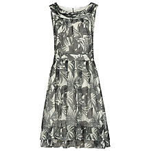 Buy Reiss Daria Palm Print Dress, Green/White Online at johnlewis.com