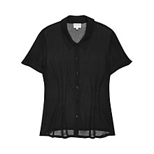 Buy Reiss Shogun Sheer Shirt, Black Online at johnlewis.com