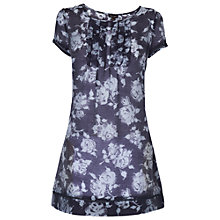 Buy Phase Eight Edwina Tunic Top, Charcoal/Blue Online at johnlewis.com