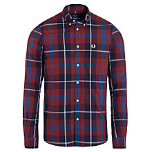Buy Fred Perry Large Mod Check Shirt, Berry Online at johnlewis.com