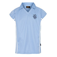 Buy North London Collegiate Girls' School  Polo Short, Sky Blue Online at johnlewis.com