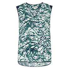 Buy Whistles Mimosa Print Top, Green/Multi Online at johnlewis.com