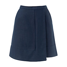 Buy Whistles Marie Wrap Skirt, Navy Online at johnlewis.com