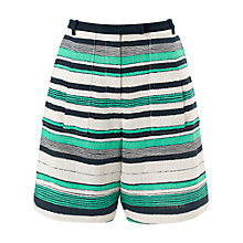 Buy Whistles Painted Linen Stripe Shorts, Multicolour Online at johnlewis.com