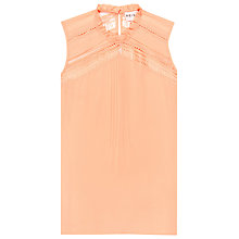 Buy Reiss Rudi Lace Ruffle Trim Top Online at johnlewis.com