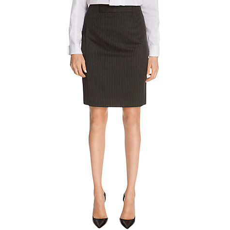 Buy Warehouse Multi Pinstripe Skirt, Grey Online at johnlewis.com