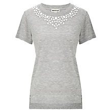 Buy Whistles Embellished Neck T-shirt Online at johnlewis.com