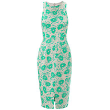 Buy Whistles Pansy Split Hem Midi Dress, Green/Multi Online at johnlewis.com