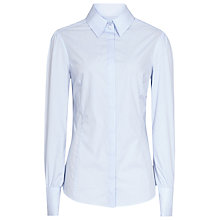 Buy Reiss Franny Stitch Detail Shirt, Light Blue Online at johnlewis.com