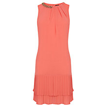 Buy Oasis Tilly Embellished Shift Dress, Coral Online at johnlewis.com