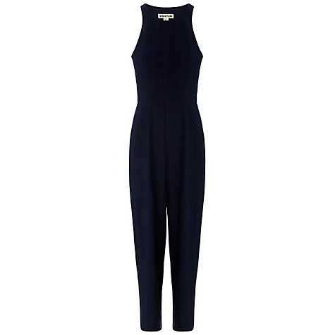 Buy Whistles Bex Wide Leg Jumpsuit, Navy Online at johnlewis.com
