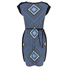Buy Oasis Geo Print T-shirt Dress, Multi Blue Online at johnlewis.com