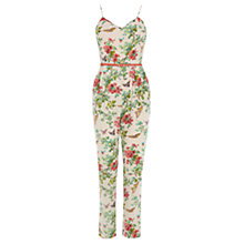 Buy Oasis Butterfly Blossom Jumpsuit, Multi White Online at johnlewis.com