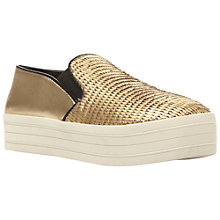 Buy Steve Madden Bubah Trainers, Gold Online at johnlewis.com