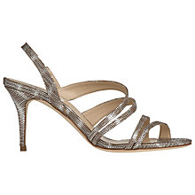 Buy L.K. Bennett Addie Leather Strappy Sandals, Silver Tejus Online at johnlewis.com