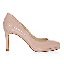 Buy Hobbs Juliet Leather Court Shoes, Nude Pink Online at johnlewis.com