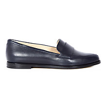 Buy Hobbs Brona Vitello Leather Loafers, Navy Online at johnlewis.com