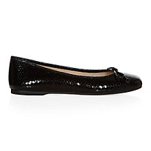 Buy Hobbs Prior Square Toe Leather Ballerina Pumps Online at johnlewis.com