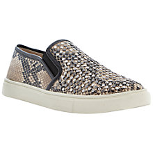 Buy Steve Madden Eros Reptile Print Slip On Trainer, Natural Online at johnlewis.com