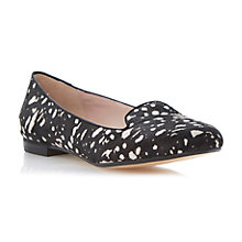 Buy Dune Limbo Pony Print Loafers, Black/White Online at johnlewis.com