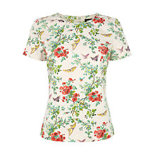 Buy Oasis Butterfly Blossom T-shirt, Multi Online at johnlewis.com