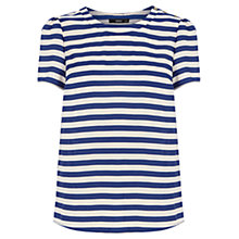 Buy Oasis Stripe Grosgrain Back T-shirt, Multi Online at johnlewis.com