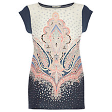 Buy Oasis Paisley Placement Top, Multi Online at johnlewis.com