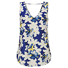 Buy Oasis Lily Print Sleeveless Top, Multi Online at johnlewis.com