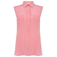 Buy Wishbone Sherry Silk Shirt, Pink Online at johnlewis.com