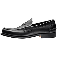 Buy Church's Pembrey Leather Loafers, Black Online at johnlewis.com