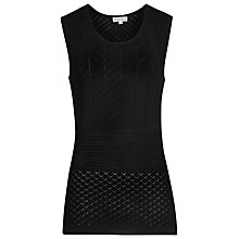 Buy Reiss Franceska Knitted Vest, Black Online at johnlewis.com