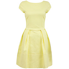 Buy Closet Jacquard Cap Sleeve Dress, Yellow Online at johnlewis.com